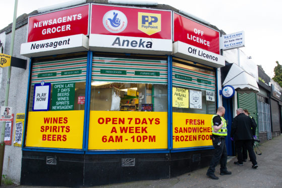 The Aneka convenience store where there was an alleged armed robbery