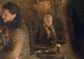 A takeaway cup was left in front of Daenerys Targaryen, played by Emilia Clarke, at a post-battle feast (Matt Crossick/PA)