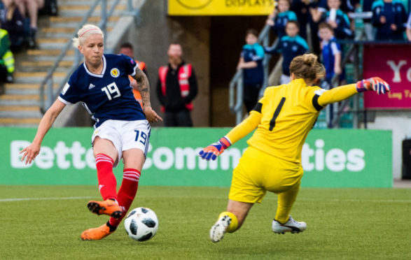 Lana Clelland in action for the national team.