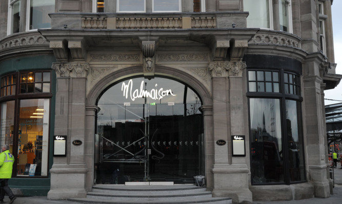 The Malmaison hotel in Dundee.