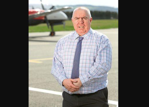 Derrick Lang, Dundee Airport manager.
