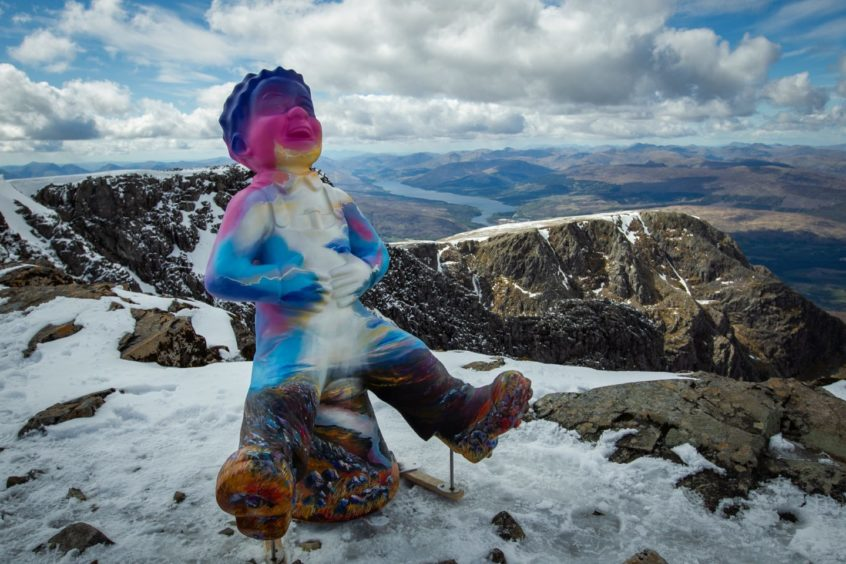 Even Oor Wullie made it to the summit of Britain's highest peak this month.