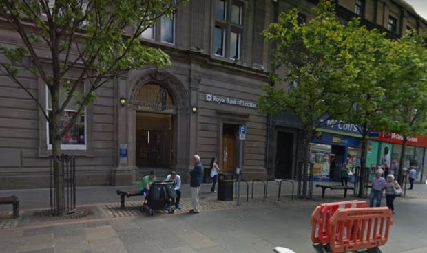 The Royal Bank of Scotland in High Street.