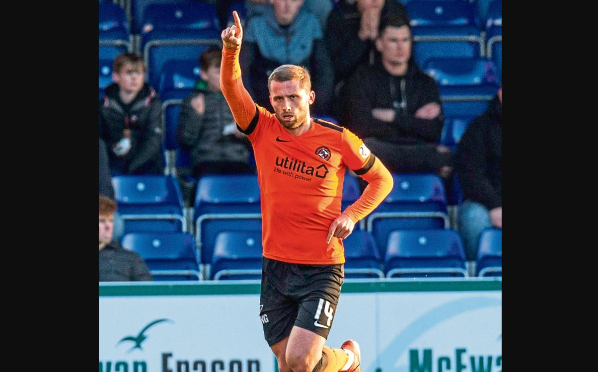 Pavol Safranko celebrates after scoring against Ross County last month.
