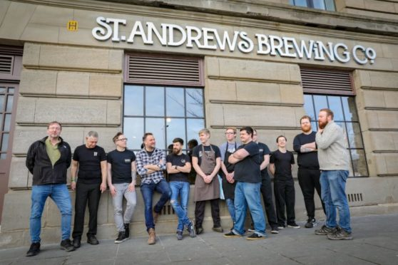 St Andrews Brewing Company staff outside the venue.