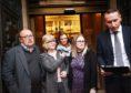 Steven Donaldson's family outside the High Court in Edinburgh.