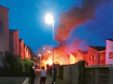 This dramatic image shows the extent of the fire.