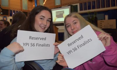 Morgan Academy's S6 pupils took part in the institutions first ever YPI programme and the winning team, Rhaigon Sullivan and Ellie Smith, donated the funds to Hot Chocolate Trust.