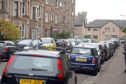 Cars parked in Bellfield Avenue in Dundee's West End