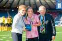 Lisa Evans was presented with her 75th cap by First Minister Nicola Sturgeon at Hampden Park last Tuesday before Scotland's 3-2 World Cup warm-up win against Jamaica.