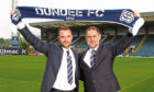 Dundee boss James McPake and managing director John Nelms.