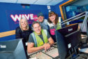 Picture shows (from left) Stacey, Bruce, Stuart McCafferty of Wave Fm and Kirsty Law of Amazon.