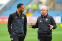 Jimmy Nicholl with Anton Ferdinand during his spell at St Mirren.