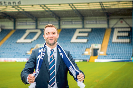 Dundee manager James McPake.