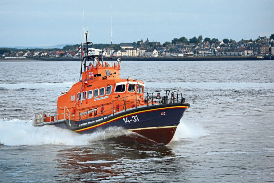 The Broughty Ferry Lifeboat on the Tay (stock image).