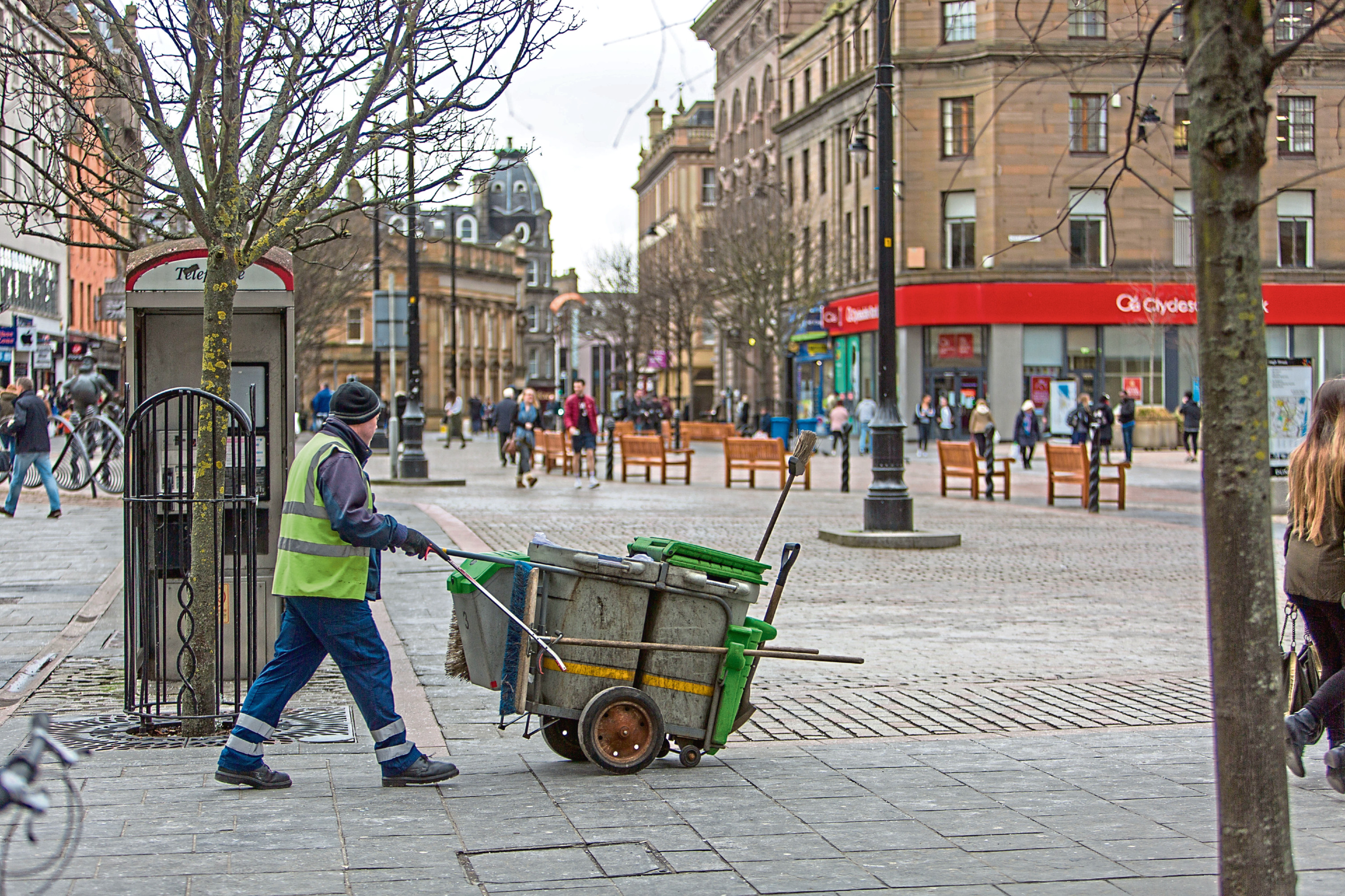 Street cleaners could go on strike if action goes ahead.