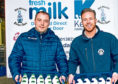 Kelvin Kerr, right, said he is pleased to see a revival in glass bottles of milk being delivered to customers.