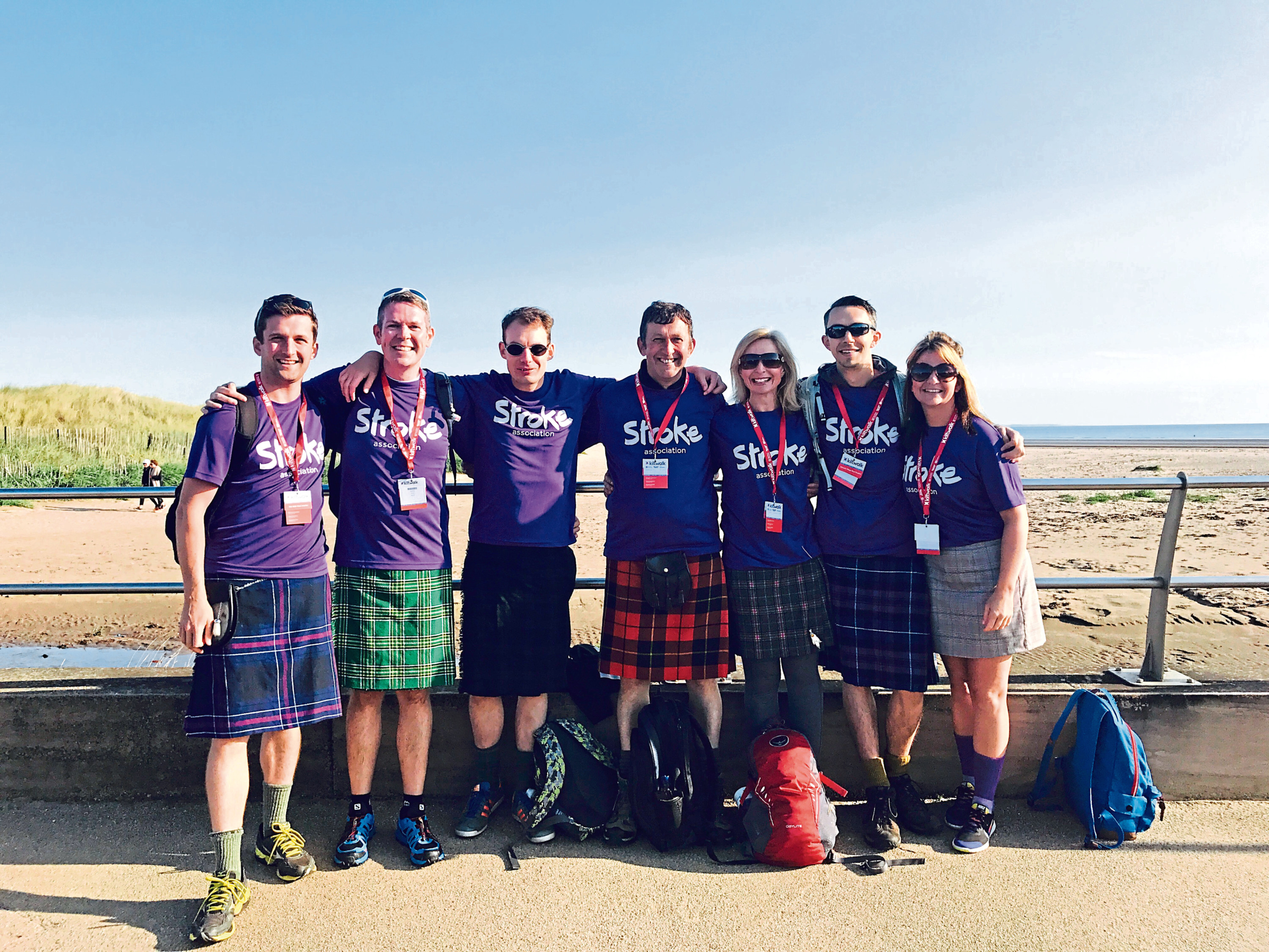 Be a Kiltwalk hero and join Team Stroke at the Dundee Kiltwalk.
