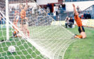 Dundee Utd's Paul Hegarty (right) celebrates his goal against Dundee in the Scottish Cup semi-final at Tynecastle in 1987.