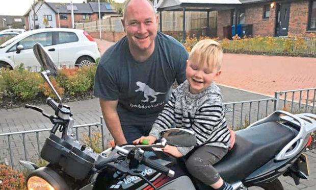 Logan Tyler with his son Sullivan Tyler.