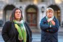 GMB Scotland Organiser Helen Meldrum with Susan Marnie, GMB Rep.