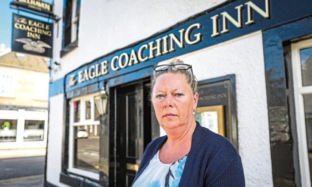 Debbie Findlay, landlady of the The Eagle Inn in Broughty Ferry.