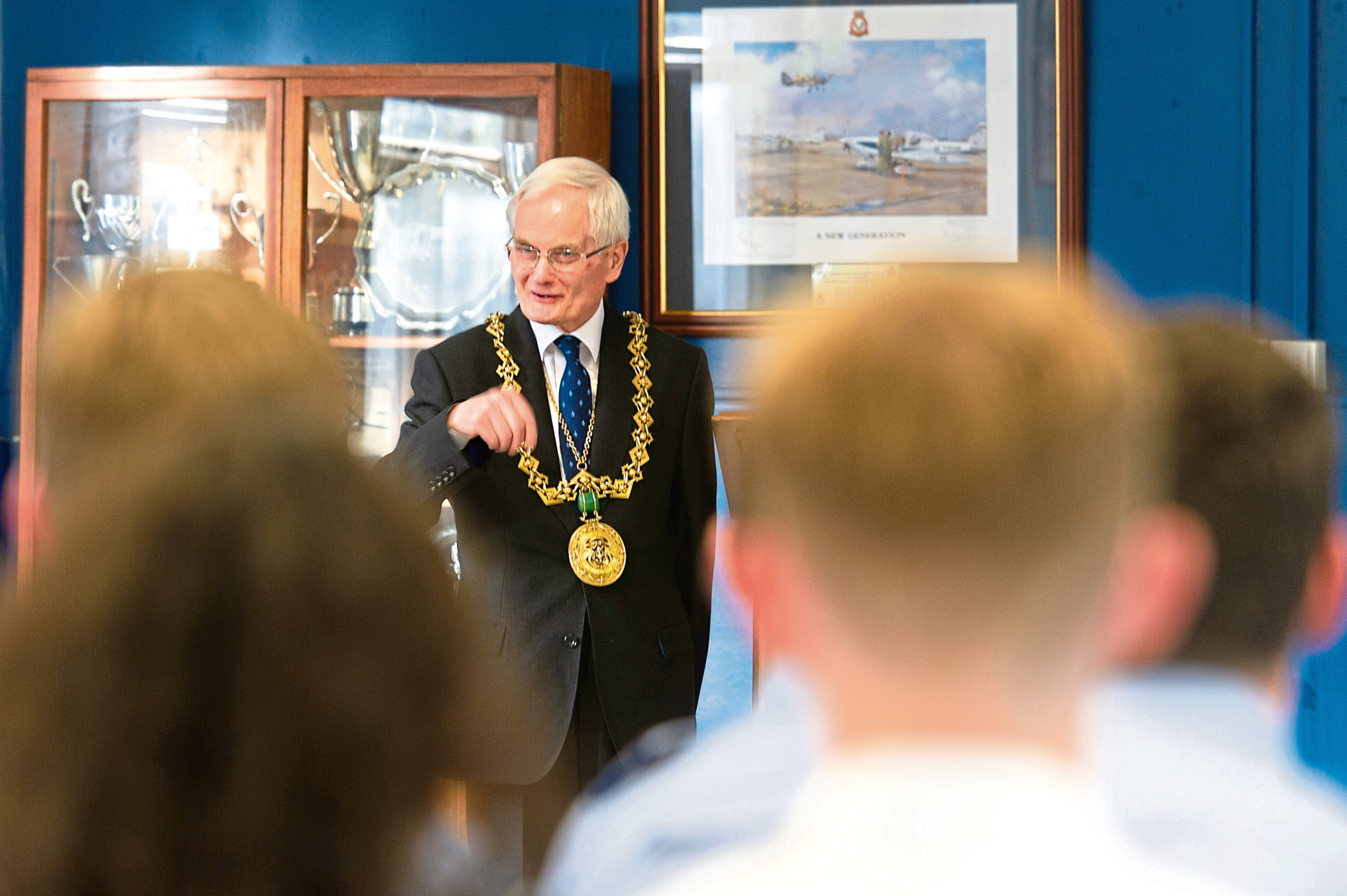 The Lord Provost of Dundee visits his old cadet squadron.