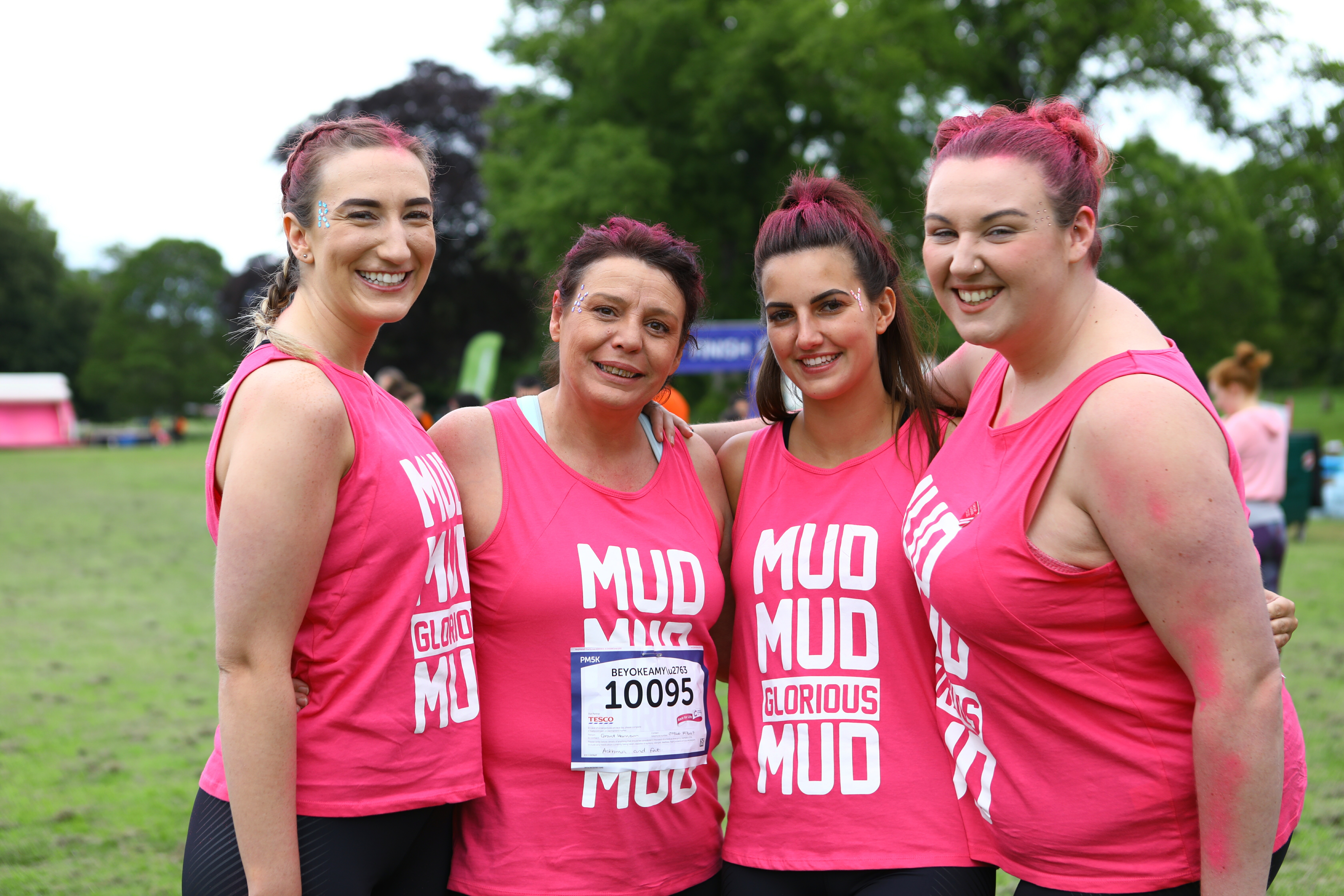 This year's event has been postponed. Pictured is from left: Rebecca Hardie, Kerry Lowe, Yolanda Hodgson and Amy Brown, before the Pretty Muddy 5K last June.