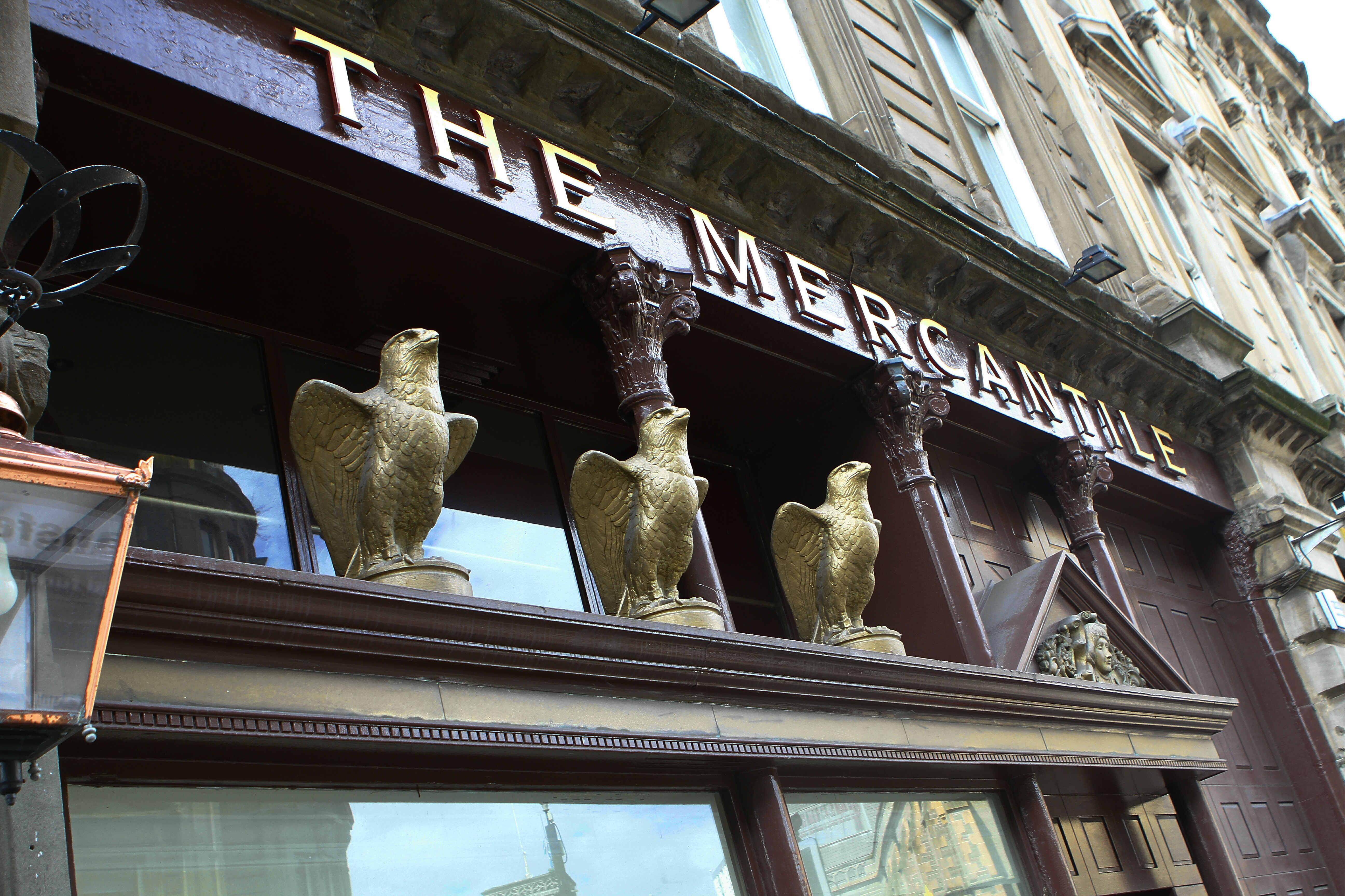 The theft took place at The Mercantile pub on Commercial Street.