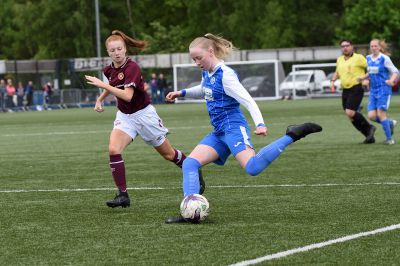 Hannah in action for St Johnstone U/17s.