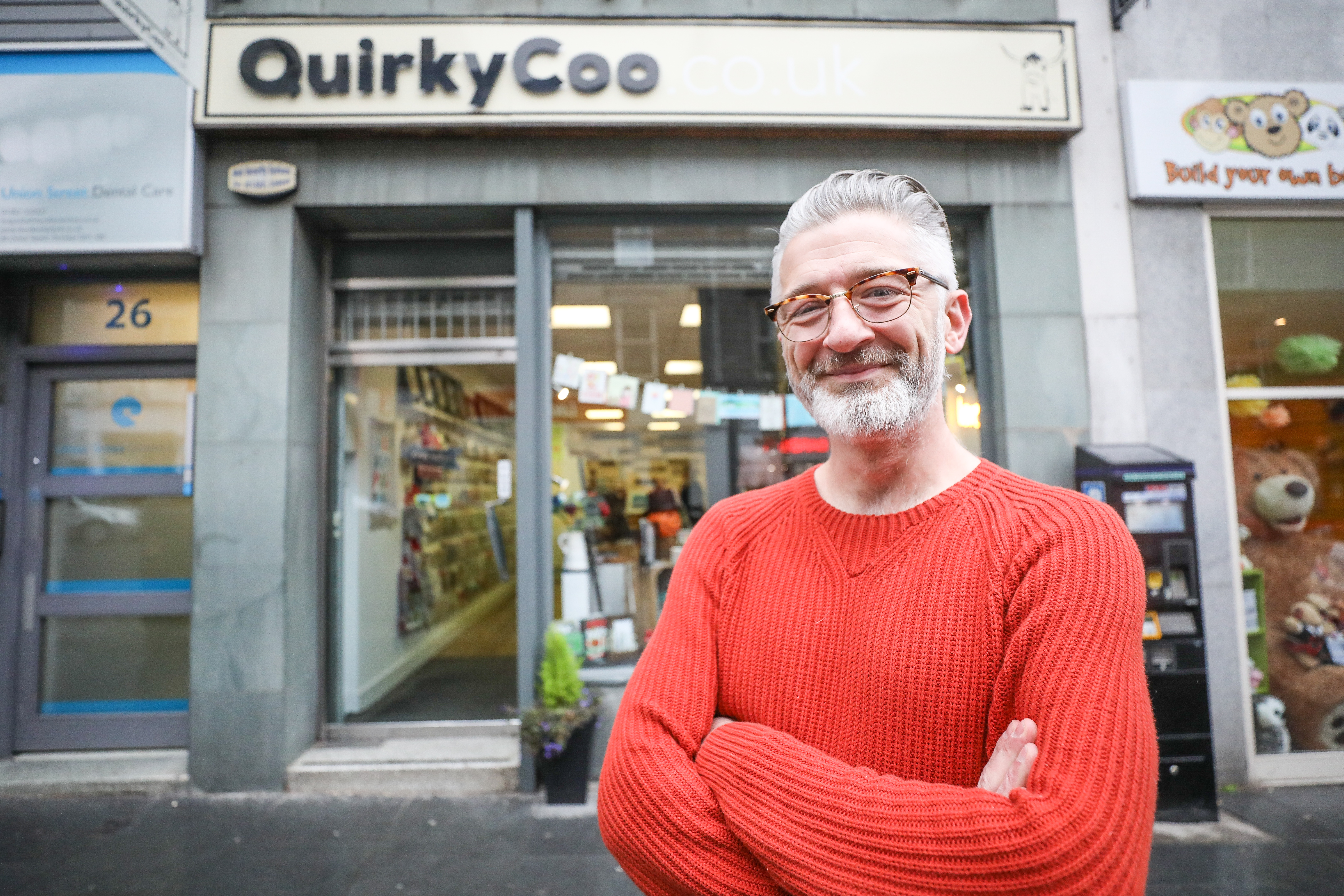 David Blair, Co-owner of Quicky Coo in Union Street.