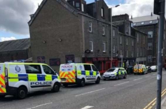 Police on Princes Street, Dundee