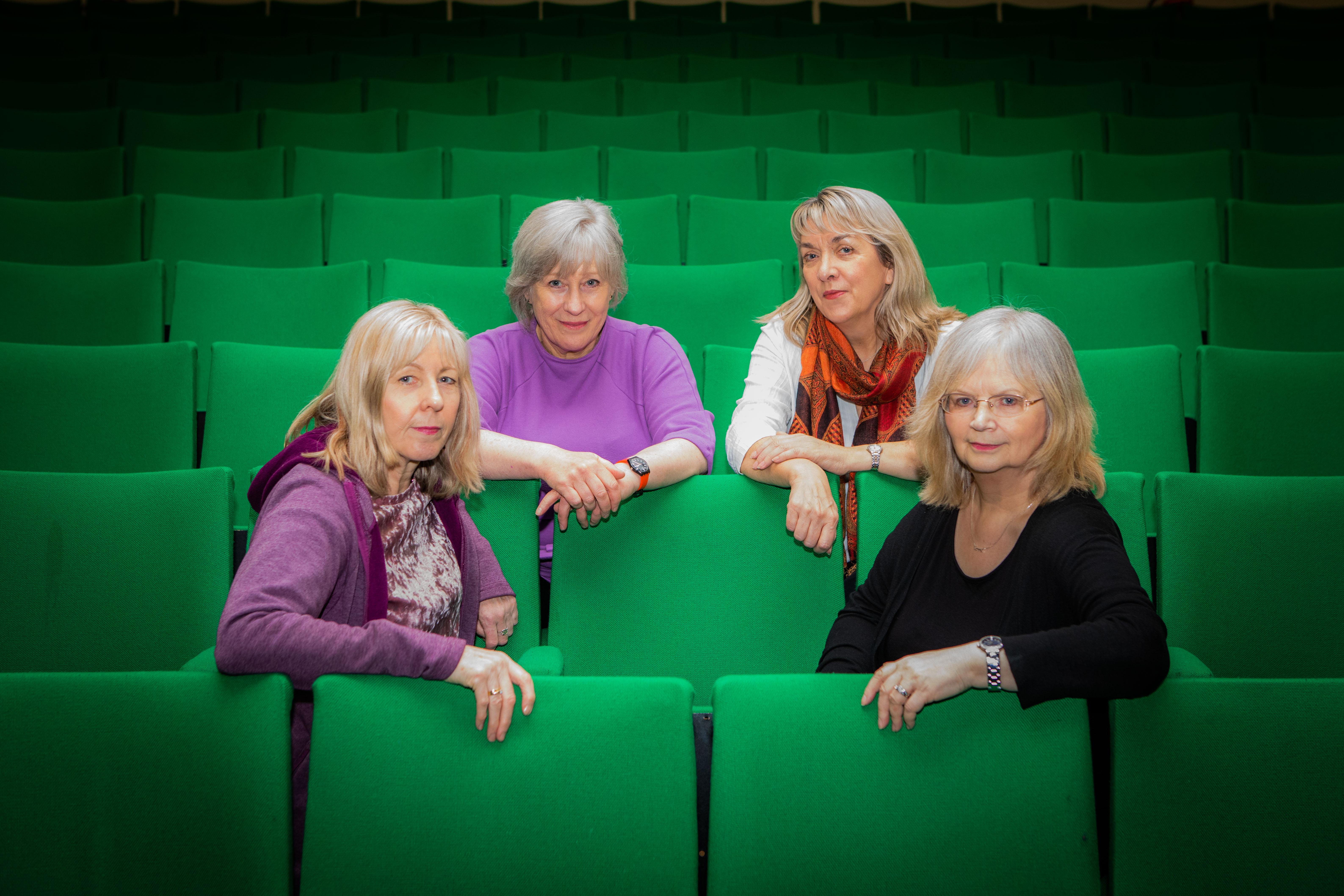 From left: Anne Rendall, Ann Porter, Elizabeth Sheerar and  Shirley Wishart.