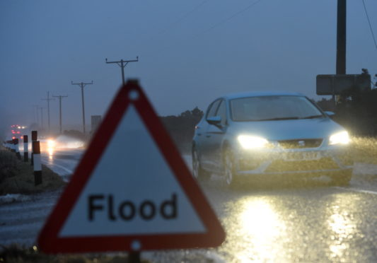 Roads could be affected by the downpour (stock image).