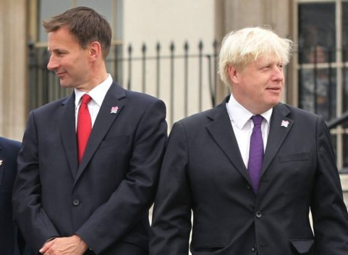 Jeremy Hunt and Boris Johnson.