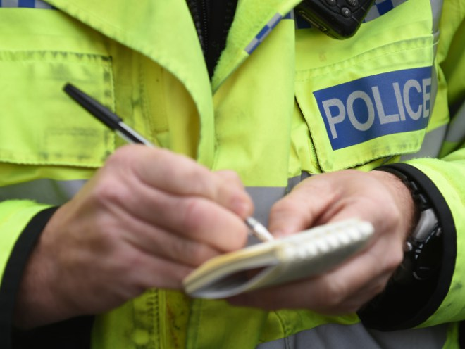 Police stopped the man on an unclassified road in Drunkendub, Arbroath.