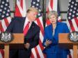 Donald Trump with Theresa May.