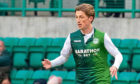 Ryan Gauld in action for Hibs.