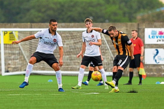Dundee United in action against East Fife at the weekend.
