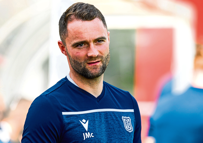 Dundee Head Coach James McPake.