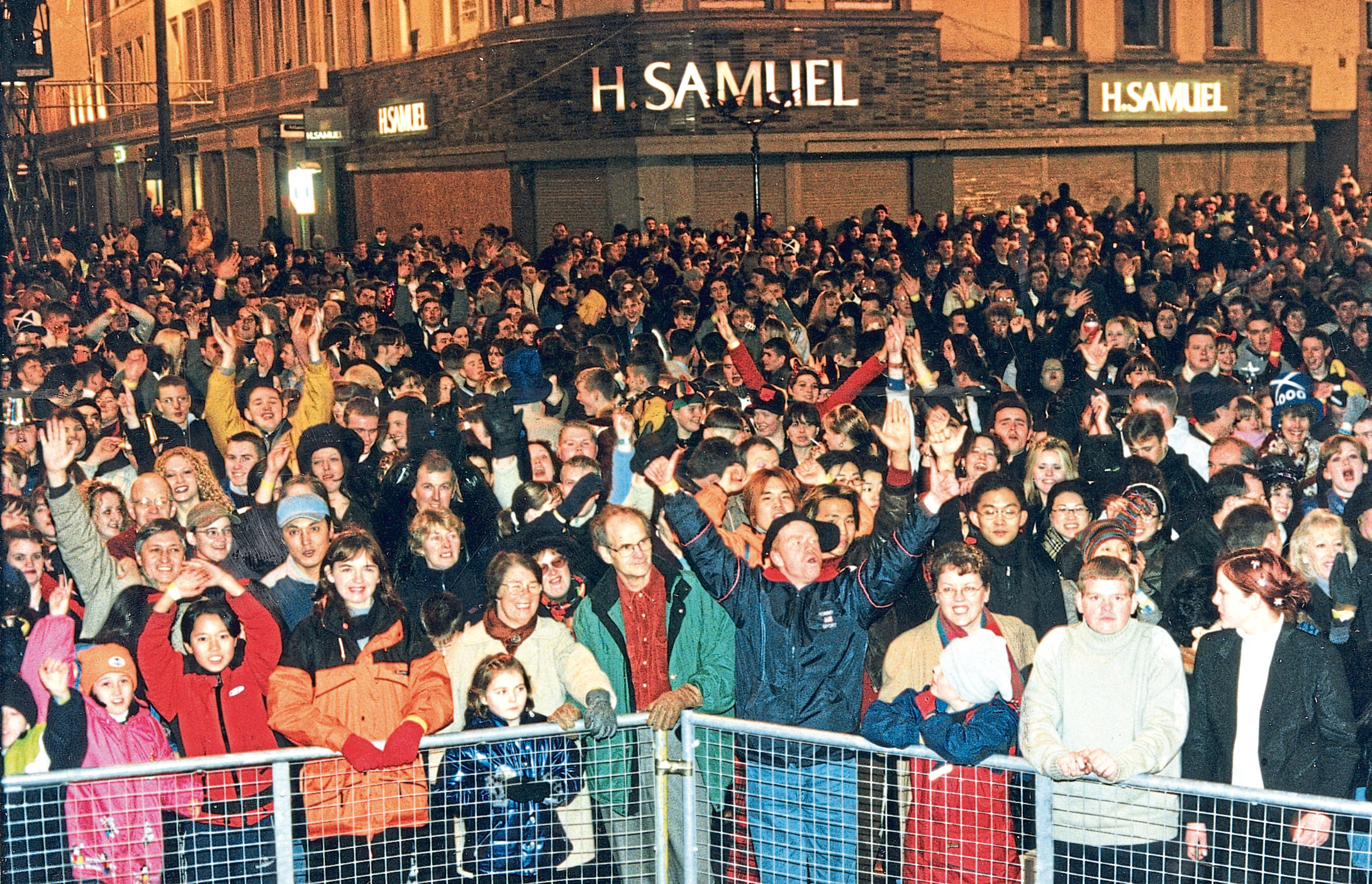 Hogmanay celebration in Dundee.