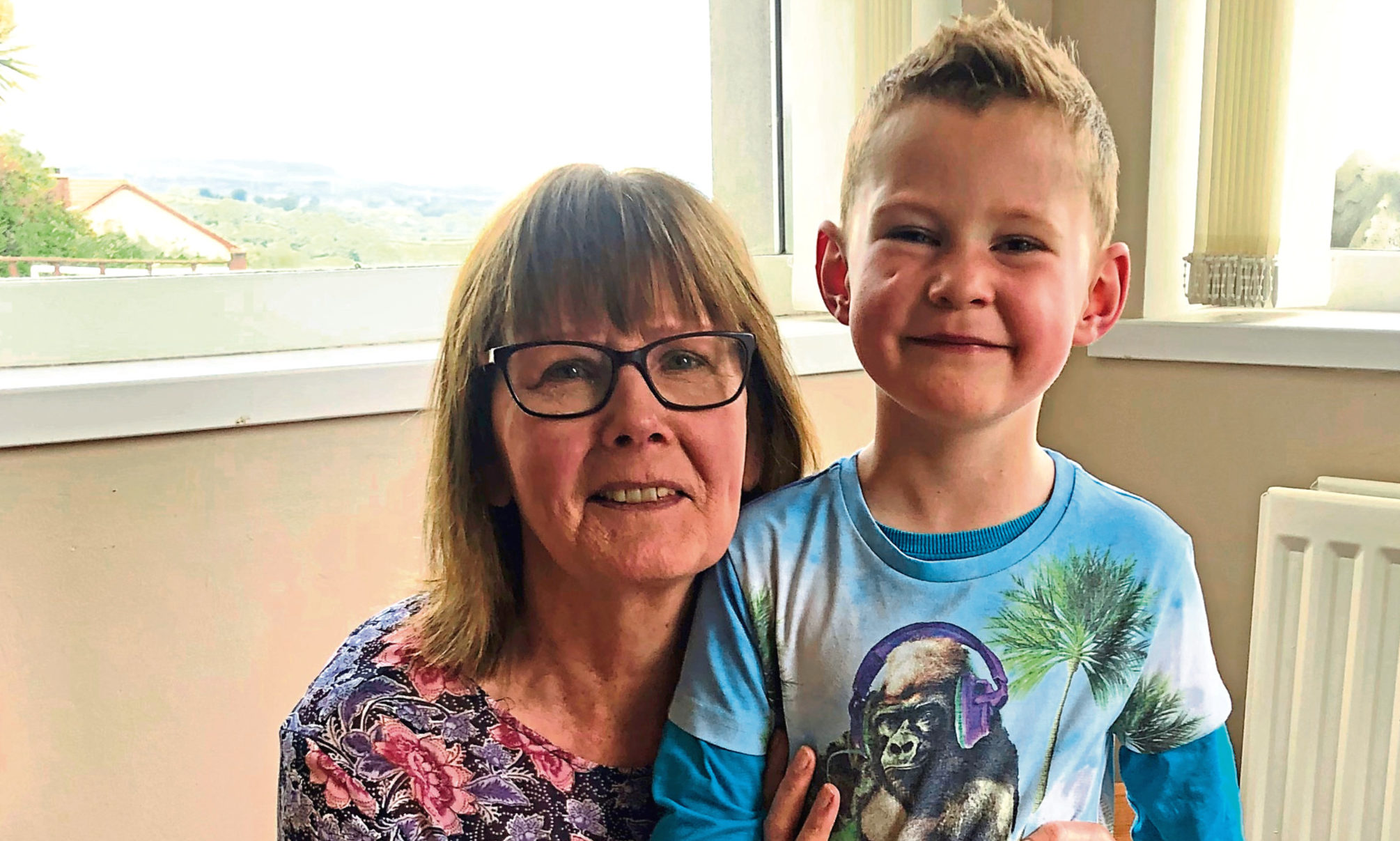 Jacqui Seymour, from Larne in Northern Ireland, with grandson Joe.