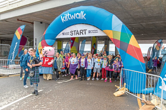 The Kiltwalk has grown from strength to strength each year.