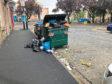 Rubbish in Peddie Street.
