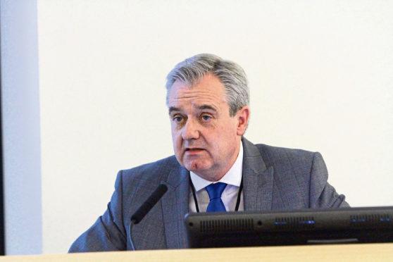 John Brown, the former NHS Tayside Chairman.