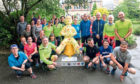 The running group who made it round all the city statues in an hour.