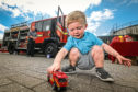 Leo Martin, 2, from Coldside, has another toy fire engine to add to his collection.