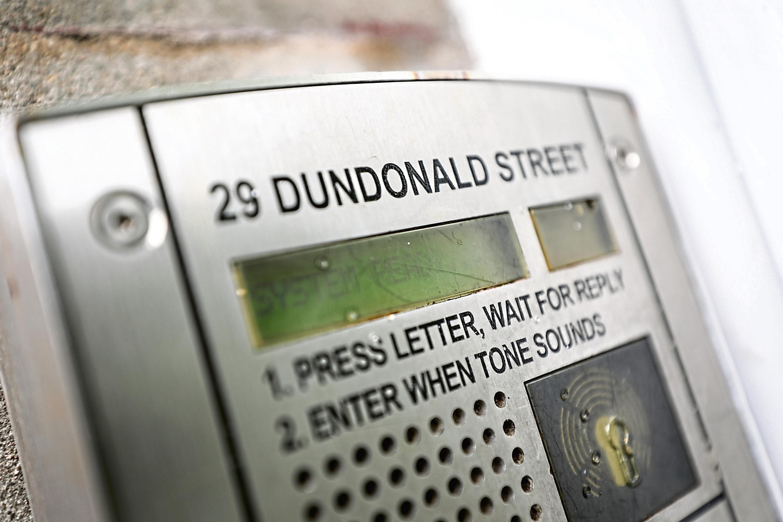 Tenements on Dundonald Street.