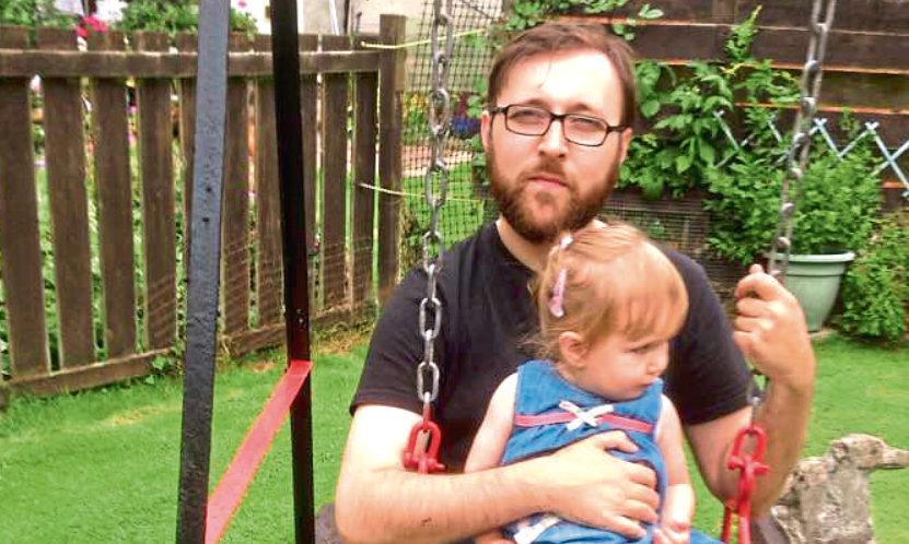 Ewan and his daughter.