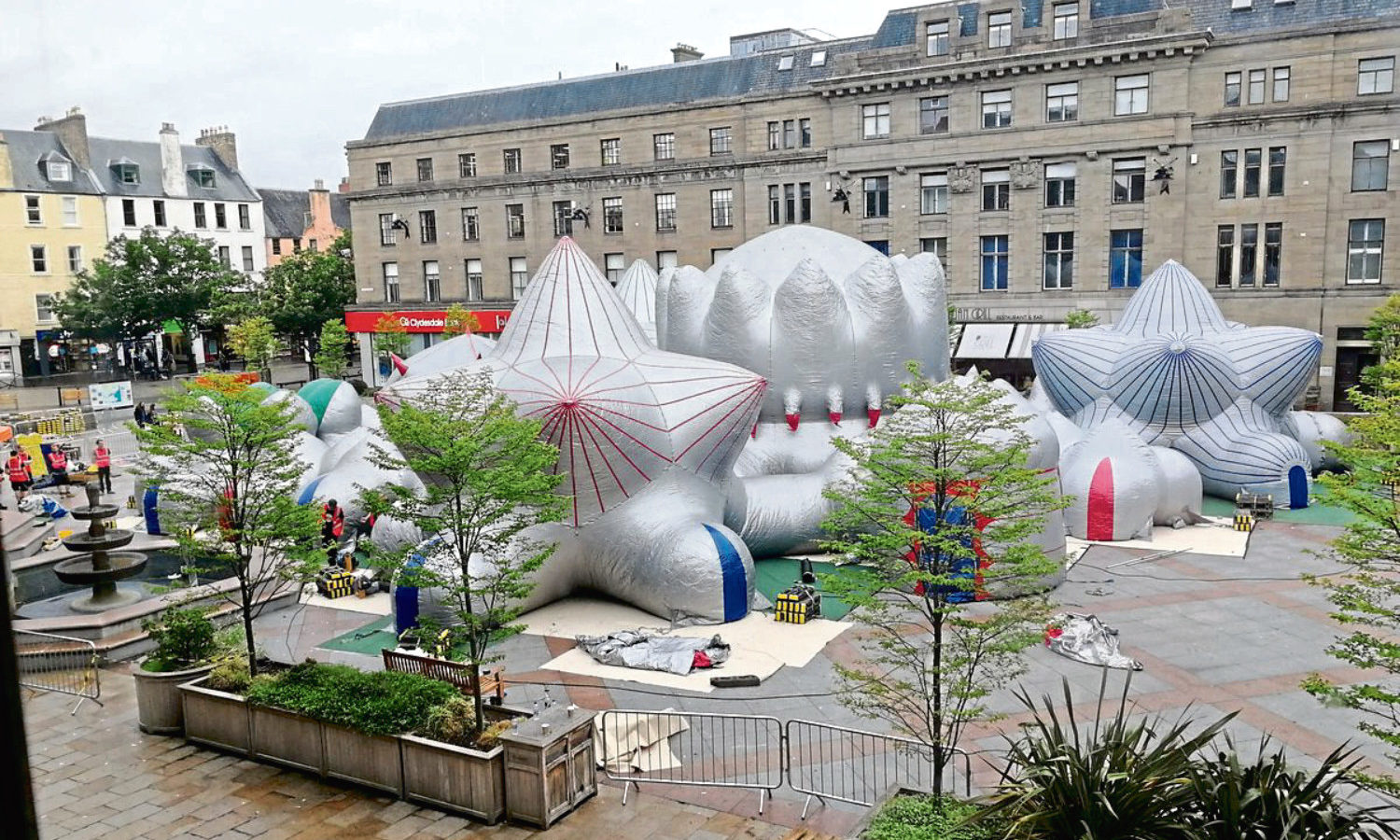 The luminarium ready to be blown up.